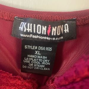 Fashion Nova Intimates & Sleepwear - Fashion Nova Sexual Healing Teddy - Burgundy